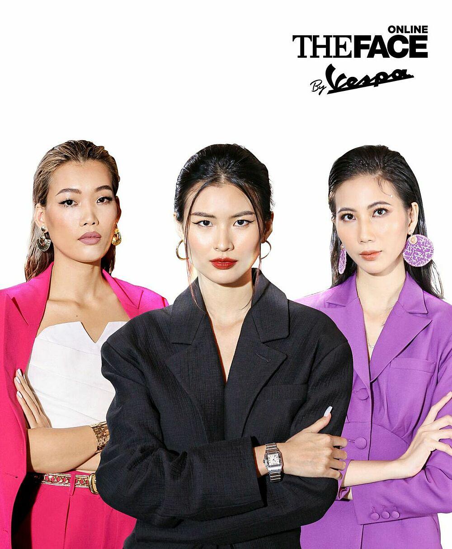 Bộ ba cố vấn chuyên môn Nguyễn Hợp - Cao Thiên Trang - Cao Ngân sẽ hỗ trợ ba huấn luyện viên (mentor) tại The Face Online by Vespa. Ảnh: Vespa