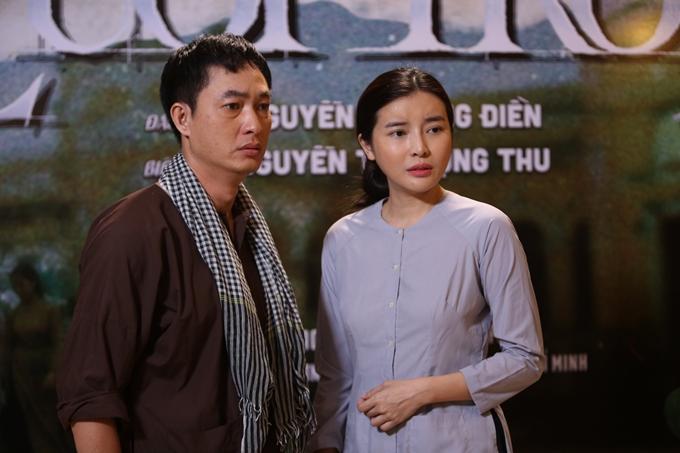 Cao Thái Hà gặp lại diễn viên Khương Thịnh - người đóng vai chồng cô trong phim Tiếng sét trong mưa.