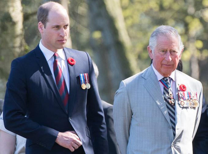 Hoàng tử William và Thái tử Charles của hoàng gia Anh. Ảnh: AFP.