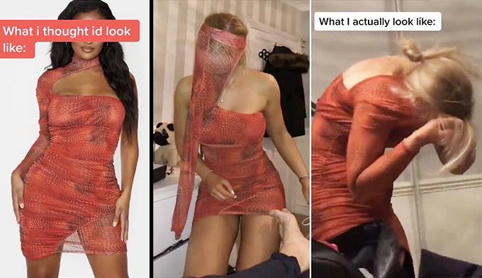 Chiếc váy không chui nổi qua đầu