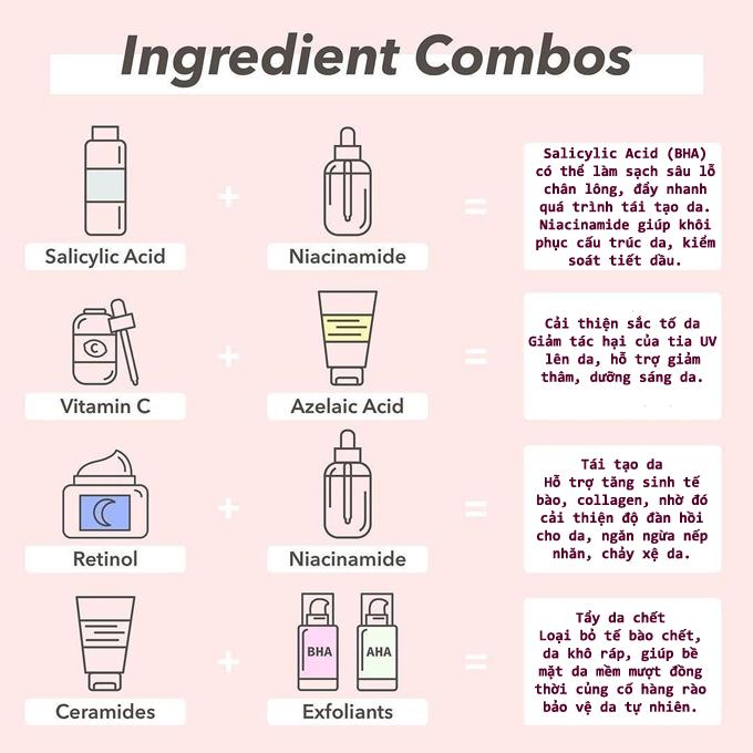 4 cách kết hợp mỹ phẩm giúp da khỏe đẹp