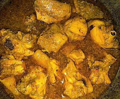 Gà kho sả ớt nước dừa - 5