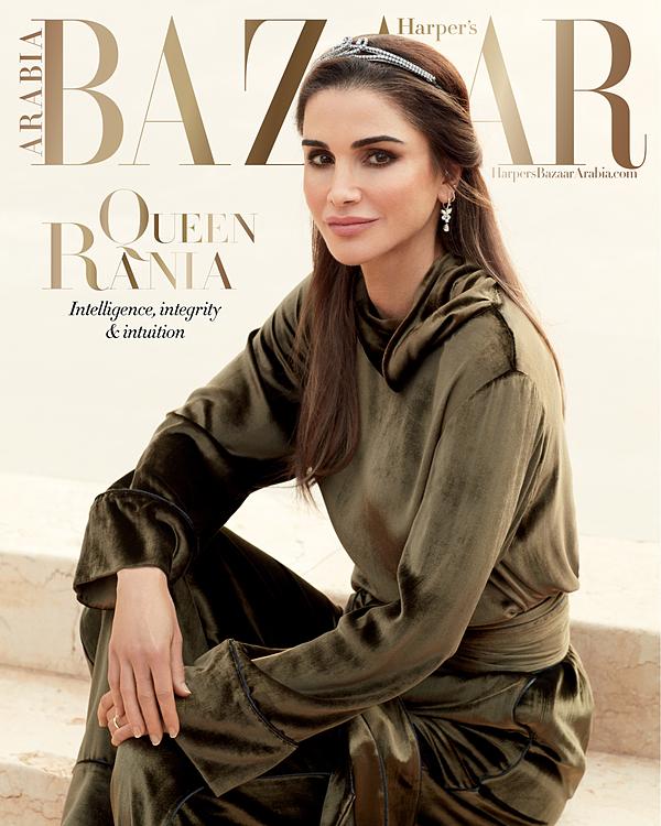 Hoàng hậu Rania nhiều lần được mời làm nhân vật trang bìa của các tạp chí thời trang danh tiếng.