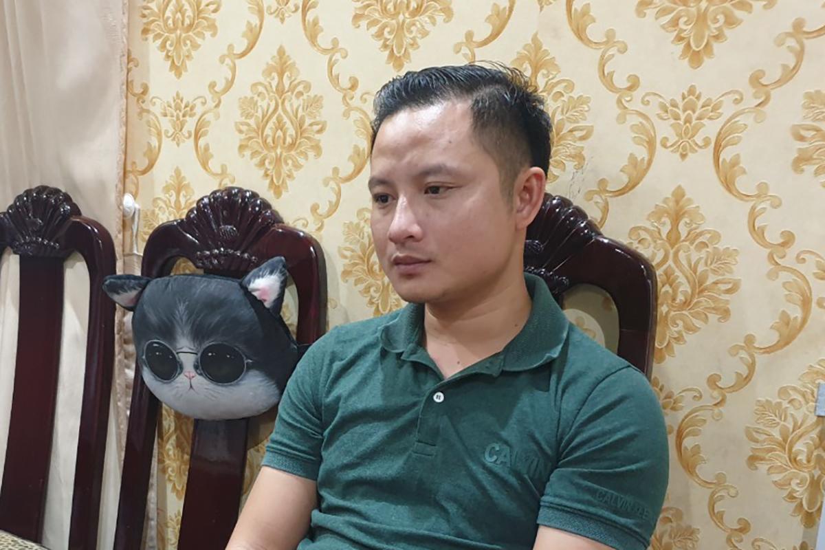 Lê Thái Phong tại nhà riêng. Ảnh: Trường Hà.