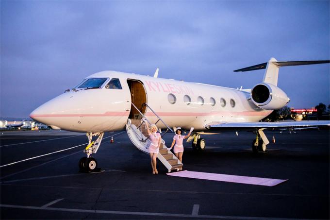 Máy bay của Kylie Jenner.