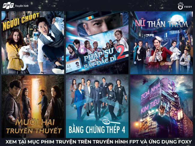 Nhiều phim được TVB ra mắt khán giả. FPT giới thiệu những tác phẩm này.