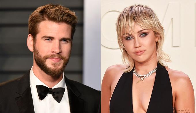 Liam Hemsworth và Miley Cyrus ly hôn năm 2019.