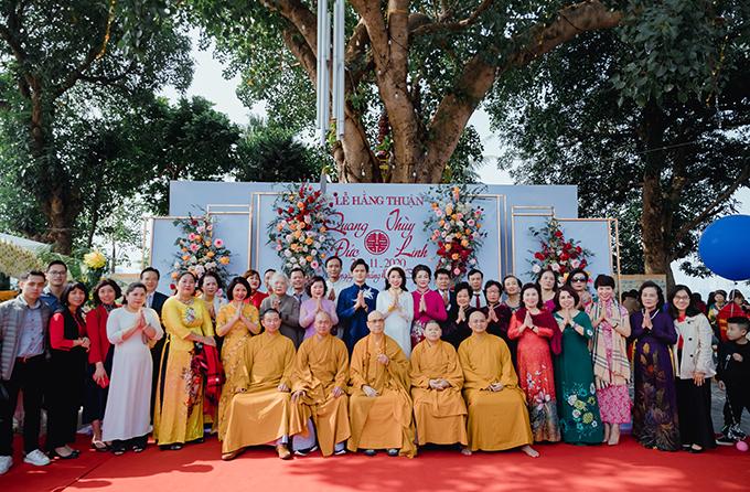 Cuối tháng 11 vừa qua, Quang Đức - Thùy Linh cùng hai bên gia đình đã tổ chức lễ hằng thuận dưới sự chứng minh của Chư Tôn Đức tại ngôi chùa linh thiêng bậc nhất Hà Nội - Trấn Quốc Cổ Trị.