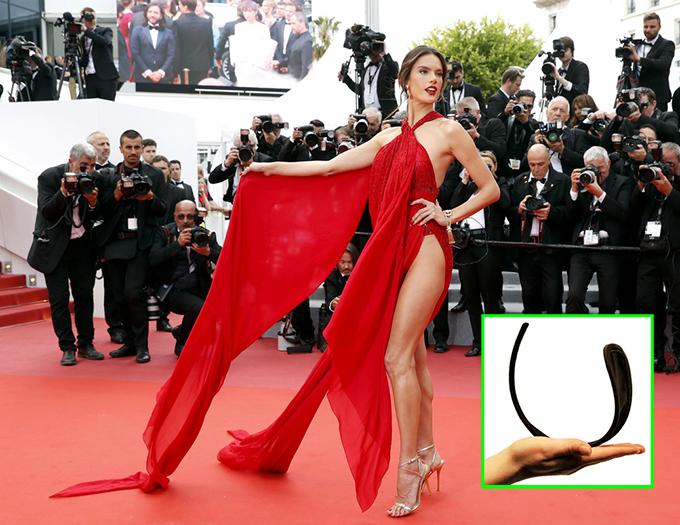 Cựu thiên thần nội y Alessandra Ambrosio trên thảm đỏ Liên hoan phim Cannes 2019.
