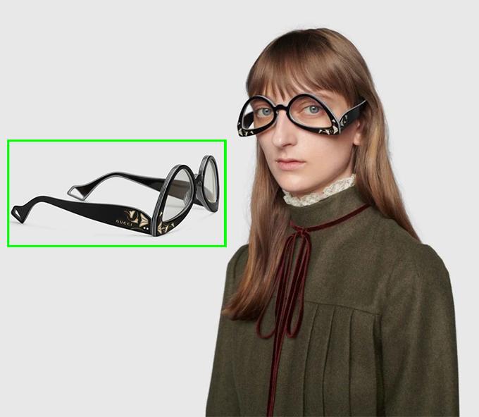 Mẫu kính gây chú ý của Gucci.