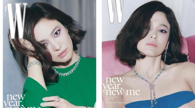 Song Hye Kyo trên W số mới.