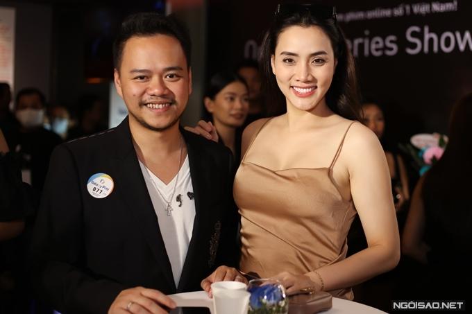 Diễn viên Trang Nhung và ông xã - đạo diễn Nguyễn Duy Hoàng đã lâu mới cùng nhau dự sự kiện.