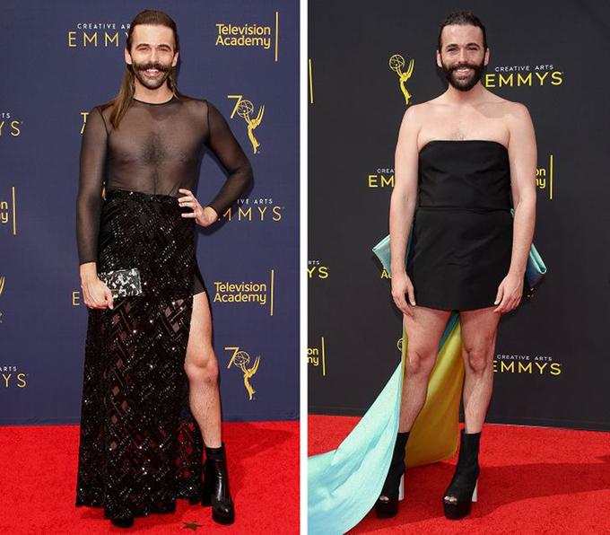 Jonathan Van NessLà một trong những ngôi sao của chương trình Queer Eye, Van Ness rất thích thử nghiệm vẻ ngoài trên thảm đỏ và thường xuyên tỏa sáng trong những bộ váy táo bạo.
