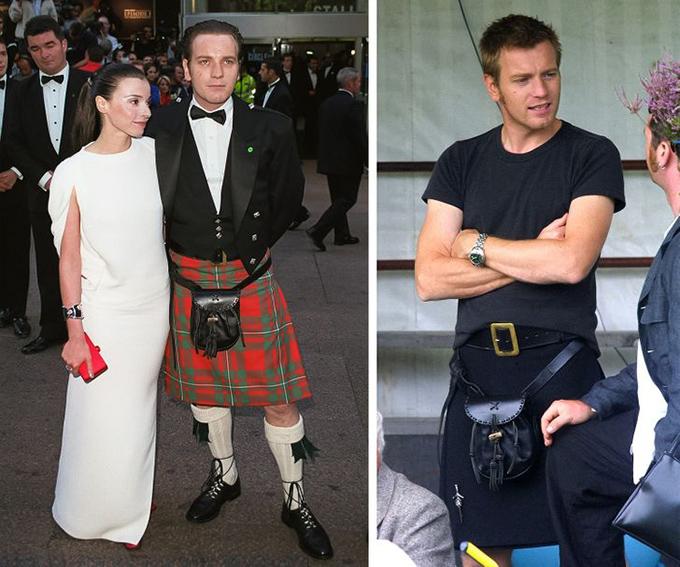Ewan McGregordiễn viên người Scotland, Ewan McGregor, rất tôn trọng những chiếc váy truyền thống và đã nhiều lần mặc chúng: Tôi thường mặc kilt vào những dịp đặc biệt như đám cưới. Đó là trang phục trịnh trọng của chúng tôi.