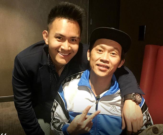 Hoài Linh và con trai ruột Thành Vinh.
