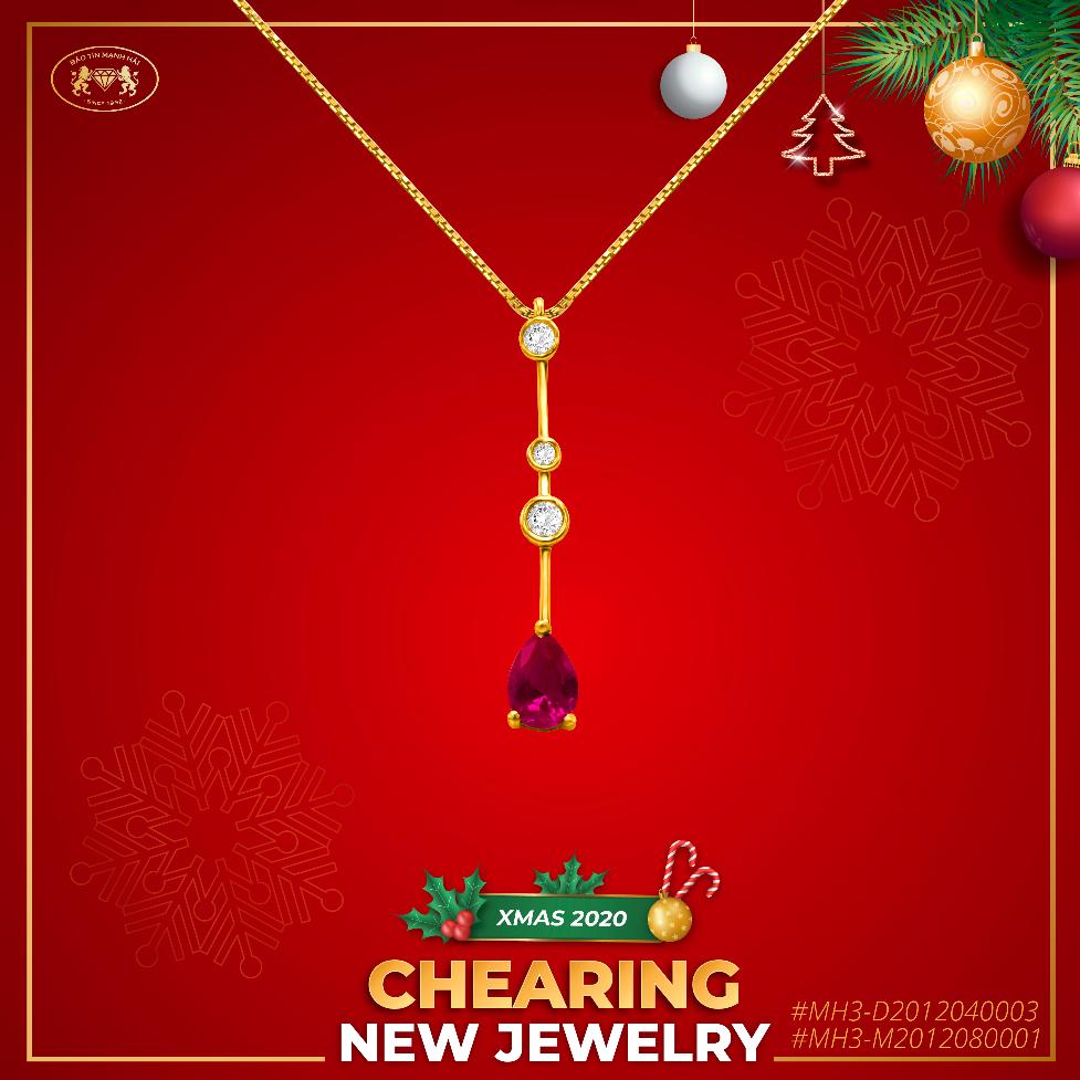 Các sản phẩm trong Chearing mang màu sắc và hình dánh tượng trưng cho hình ảnh Giáng sinh.