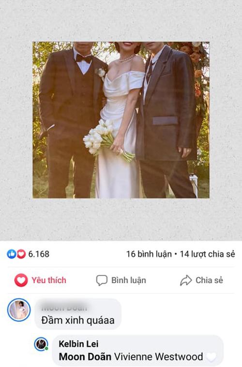 Chia sẻ của stylist Kelbin Lei về thương hiệu váy cưới mà Tóc Tiên chọn cho ngày đại hỷ.