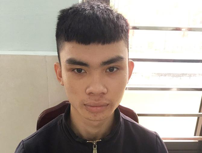 Lê Lưu Tấn Min tại cơ quan công an. Ảnh: Thanh Hồng.