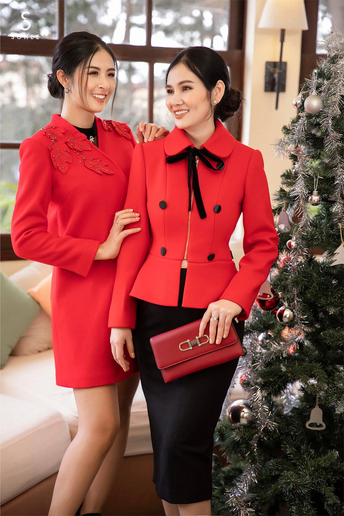 Khi chọn trang phục cho mùa lễ hội cuối năm, tone màu đỏ rực rỡ sẽ giúp phái đẹp toả sáng, nổi bật hơn. Do đó, Sohee cũng đưa gam màu chủ đạo của mùa Noel này vào các thiết kế mới nhất.