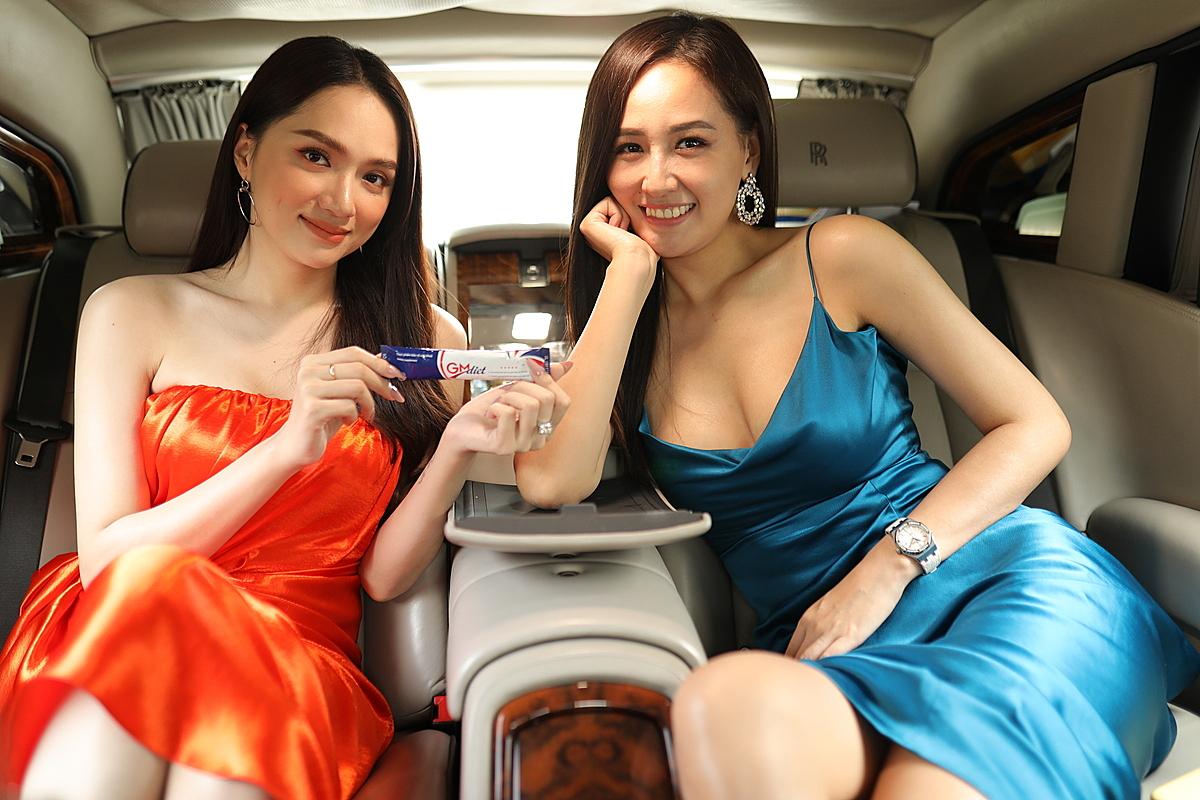 Hương Giang và Mai Phương Thúy trong livestream tiết lộ bí quyết giảm cân với GM Diet.