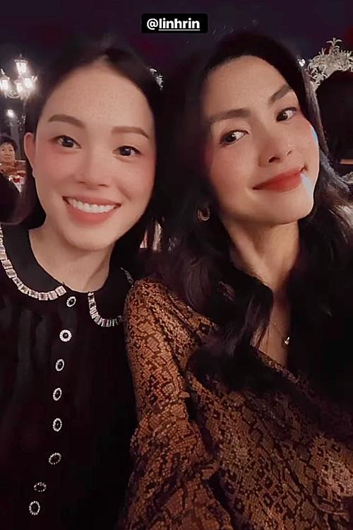 Linh Rin thân thiết bên Tăng Thanh Hà.