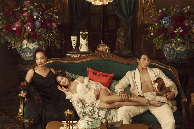 NSND Lê Khanh cùng hai diễn viên trẻ Kaity Nguyễn, Khương Lê.