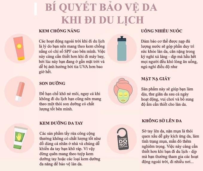 6 thói quen bảo toàn làn da khi đi du lịch