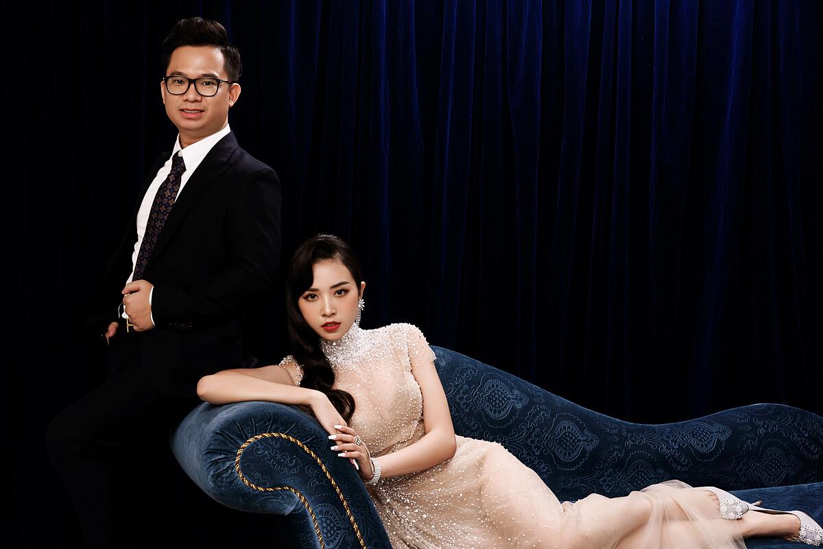 Á hậu Thúy An chụp ảnh cưới cùng chồng tiếng sĩ - 18