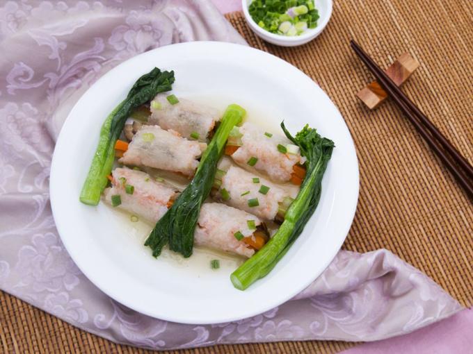 Bí cuộn tôm nấm