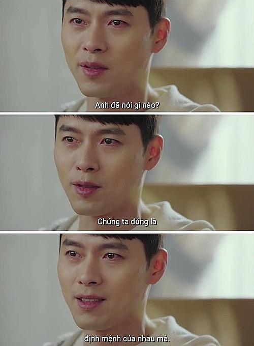 Câu thoại của đại úy Ri Jung Hyuk (Hyun Bin thủ vai) được dùng để mô tả cho chuyện tình định mệnh của cặp đôi Bin - Jin sau phim Hạ cánh nơi anh.