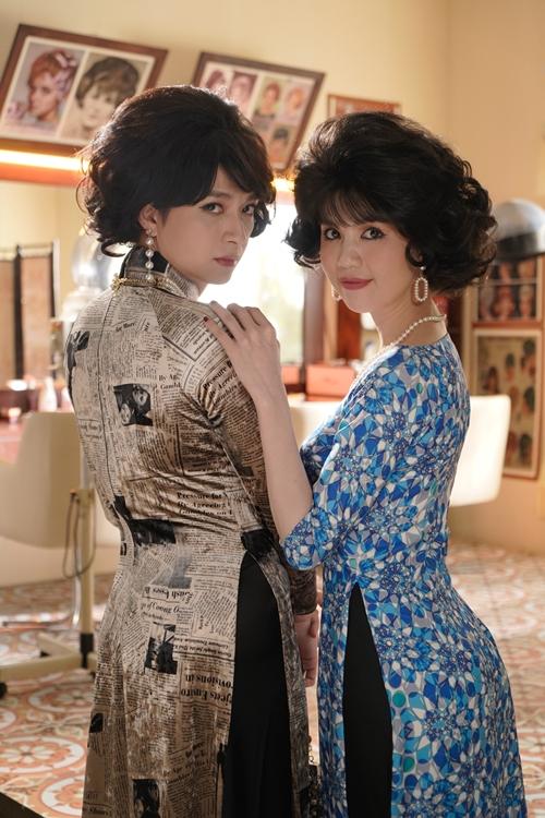 Ngọc Trinh và Ngô Kiến Huy đọ đường cong trong tạo hình quý cô thập niên 1960.