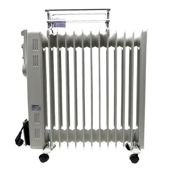 Lò sưởi dầu Tiross gồm13 thanh  nhiệt giảm 16% còn 1.850.000đ(- 16 %)Tính năng nổi bật :- Không đốt cháy không khí trong phòng- Không gây khô da,khó thở an toàn cho trẻ nhỏ và người già,- Chức năng rơ le tự ngắt khi trong phòng đủ nhiệt độ yêu cầu- Dầu được làm nóng bên trong các thanh chứa kín,tuyệt đối không có mùi khó chịu- Chức nay thay thế cho một chiếc máy sấy quần áo- Dải điều chỉnh nhiệt độ rộng- Chân đế bánh xe giúp ngươi sử dụng dễ dàng di chuyển.Điện áp : 220 V-50hzCông suất :2300-2700WSố thanh nhiệt : 13 thanhDiện tích sử dụng : 20-25 m2