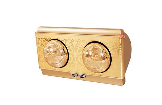 Đèn sưởi nhà tắm hai bóng treo tường Heizen giảm 16% còn 980.000 đồng;Kích thước nhỏ gọn tiết kiệm diện tích cho phòng tắm nhà bạnThiết kế hiện đại- Thích hợp cho các gia đình trang trí nhà cửa theo trường phái tân cổ điển.- Công suất: một bóng hồng ngoại là 275W, tối đa 550 W khi bật cả 2 bóng- Bảng điều khiển: 2 công tắc điều khiển cho 2 bóng sưởi hồng ngoại- Bóng hồng ngoại: 2 bóng tráng kim cương nhân tạo có tác dụng tăng độ ấm và giảm chói mắt khi sử dụng- Tuổi thọ Bóng đèn: > 20.000 h (tương đương ~12 năm)- Dây điện: dài 3m, đầu cắm tròn, 2 chân theo tiêu chuẩn châu Âu- Phụ kiện đi kèm: móc treo 2 vít nở.- Phù hợp với diện tích phòng tắm: từ 2 – 4 m2Bảo hành 10 năm chính hãng