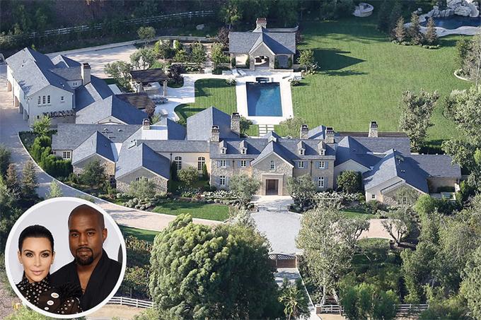 Siêu biệt thự nhà Kim-Kanye.