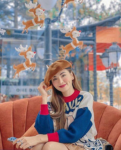 Nhan sắc xinh đẹp của hoa hậu Diễm Hương ở tuổi 30.