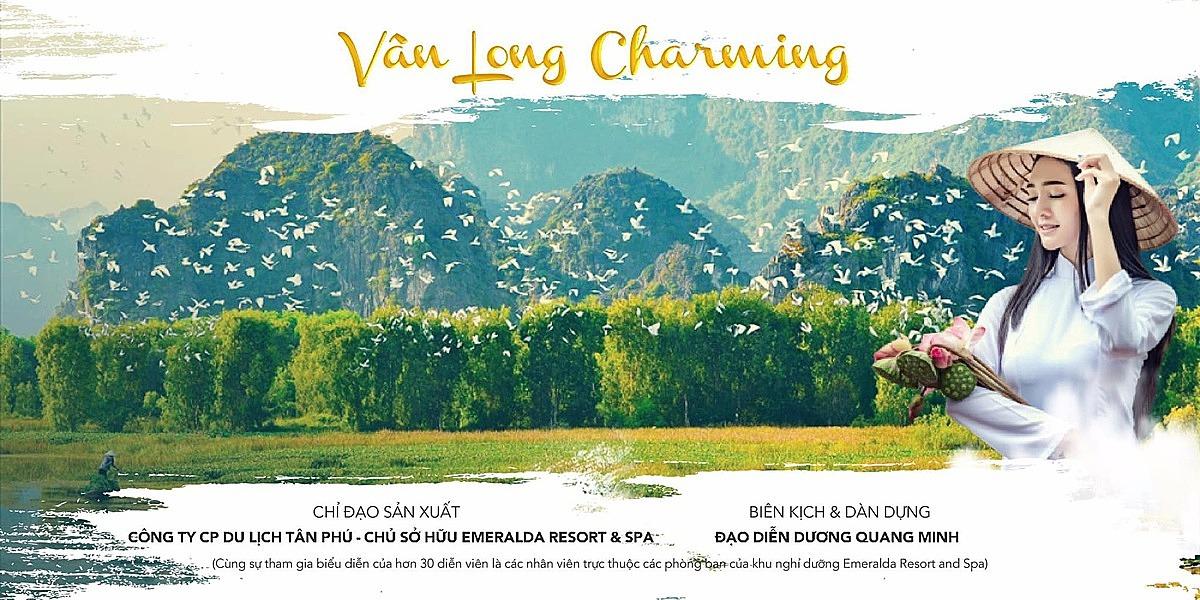 Vở diễn Vân Long Charming được Dương Quang Minh dàn dựng cho khu nghỉ dưỡng Emeamrald.