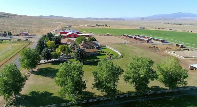 Điền trang tại Wyoming.