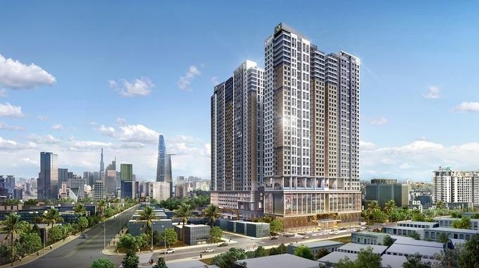 Dự án The Grand Manhattan với vị trí đắc địa, tọa lạc ngay trung tâm quận 1 với những điểm đến nổi tiếng của Sài Gòn gần kề. Ảnh phối cảnh.