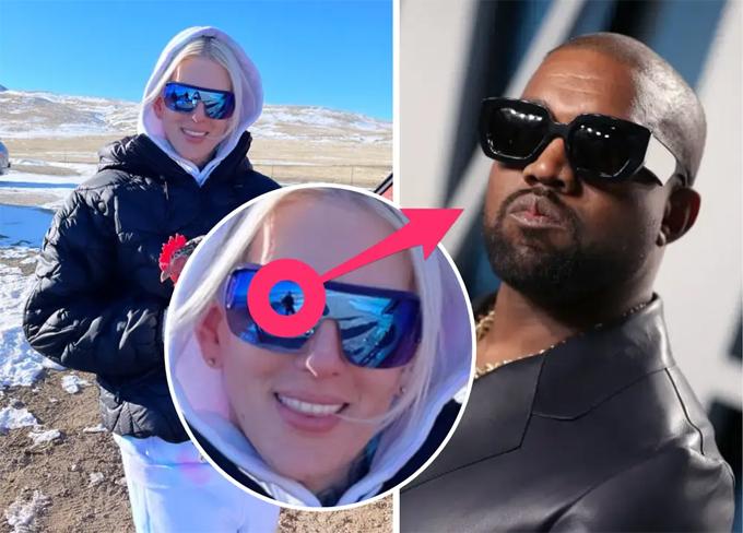 Bóng người trong mắt kính của Jeffree Star  được cho là Kanye West.