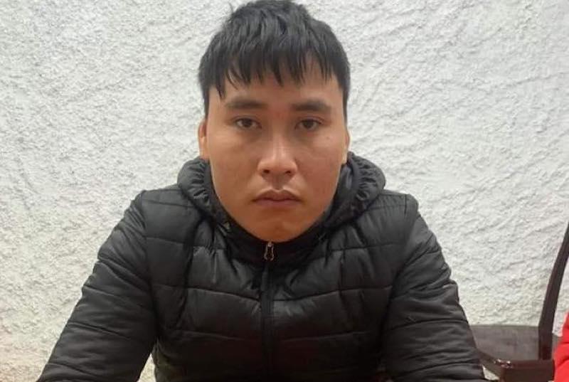 Nguyễn Văn Tùng tại cơ quan công an.