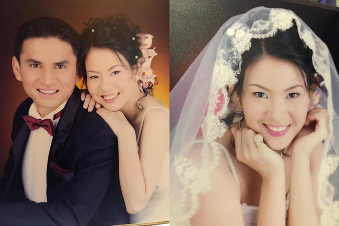 Kiatisuk đăng ảnh kỷ niệm 19 năm người cưới với bà xã Asarapa. Ảnh: KS.