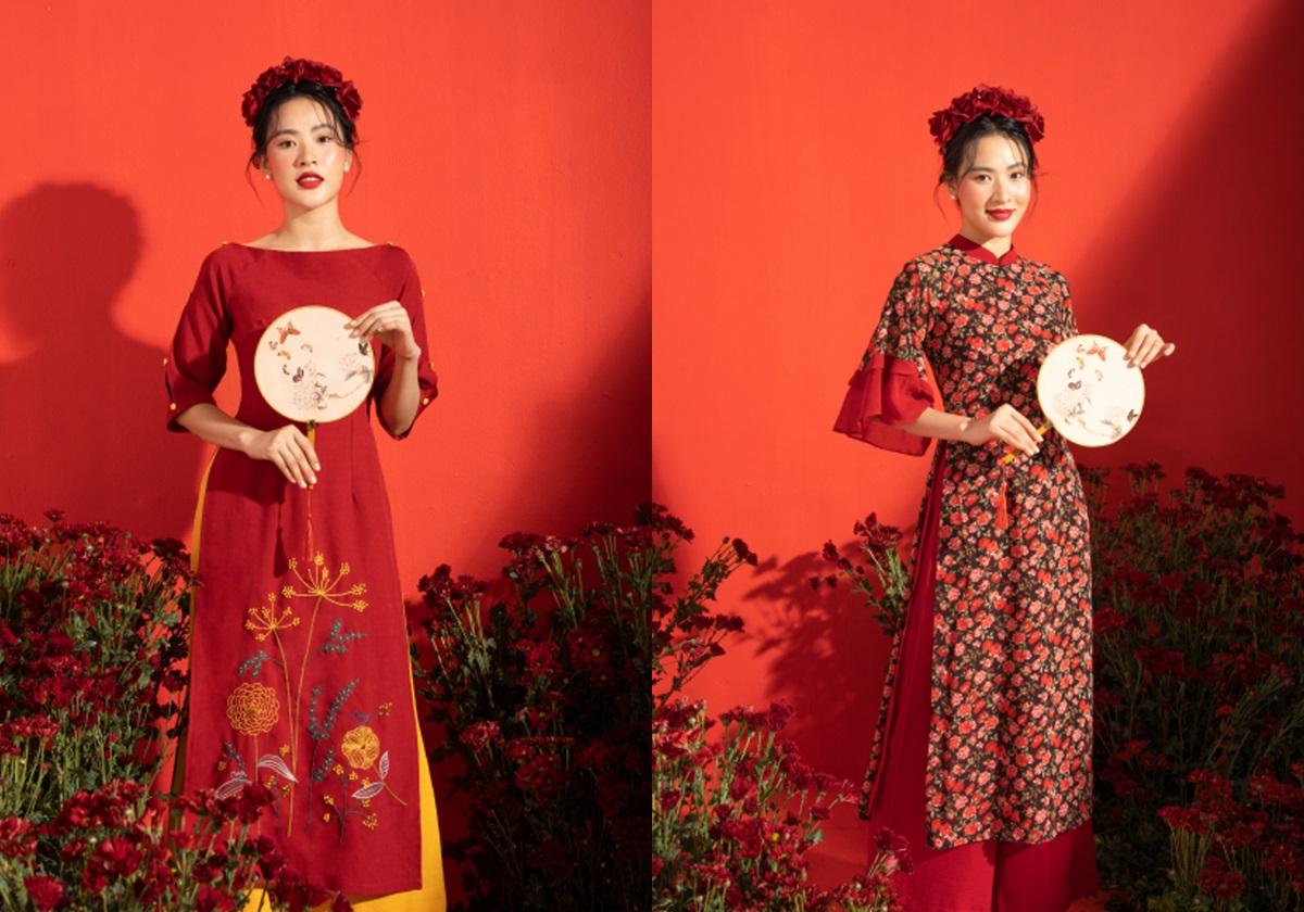 OLV ra mắt BST Niên Hoa lấy cảm hứng từng những bông hoa đang bung nở, nhấn vào đường nét thêu tay tinh tế, tỉ mỉ trên chất liệu linen và voan lụa, giúp người mặc có cảm giác được nâng niu. Sắc đỏ chủ đạo tôn nét đoan trang, kiêu sa của phái nữ dịp đầu năm. Nhà mốt giải thích Niên Hoa nghĩa là tuổi thanh xuân với nhiều niềm vui, hy vọng, khởi đầu cho một năm vạn sự hanh thông, đồng thời mang ý nghĩa cầu chúc năm nở rộ như hoa. Áo có giá từ 650.000 đồng đến 1,1 triệu; quần 450.000 đồng.