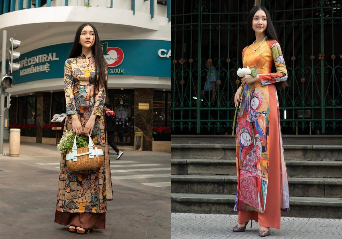 BST áo dài Hồn Việt của Fashion & Freedom là câu chuyện mang đậm bản sắc Việt Nam và rực rỡ sắc màu, cùng Nàng thơ xứ Huế sải bước trong các sự kiện lớn. Áo có giá 2,2 triệu đến 2,95 triệu đồng; quần dưới 699.000 đồng. Từ 29/1 đến 28/2, áp dụng mức giảm đến 50% và đồng giá 599.000-799.000 đồng tất cả sản phẩm.