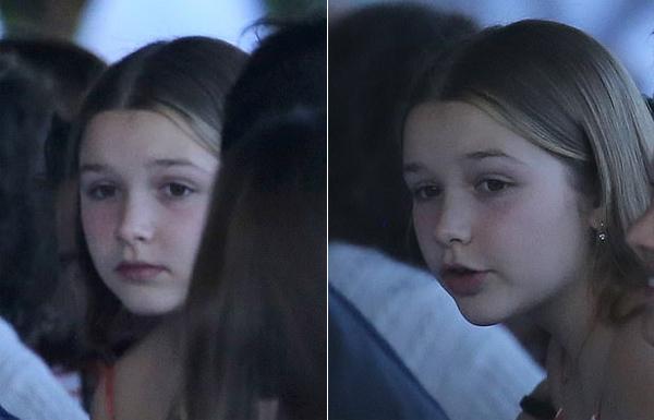 Cô nhóc Harper có lúc tháo khẩu trang để lộ làn da trắng hồng, gương mặt bầu bĩnh. Con gái Becks và Vic được khen càng lớn càng xinh và giống bố nhiều hơn.
