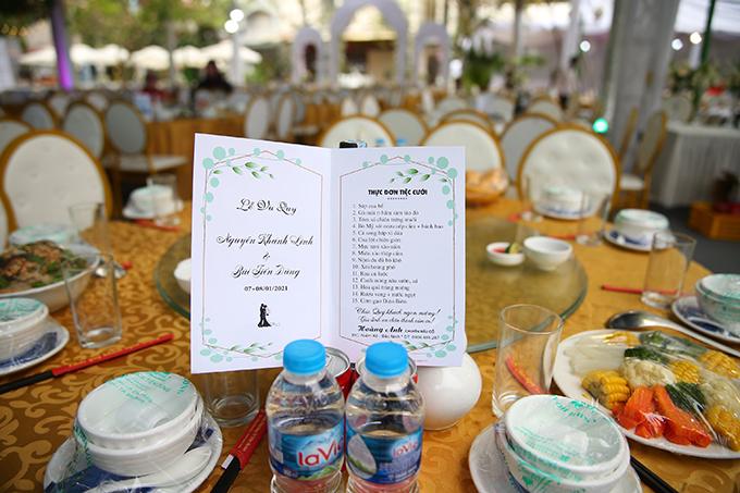 Thực đơn đầy ắp thịt cá trong ba đám cưới của Bùi Tiến Dũng - 2