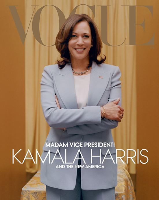 Phó tổng thống nữ đầu tiên của nước Mỹ tươi cười trên bìa Vogue phiên bản digital.