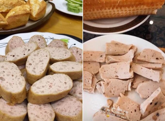 Món bành mì chả Tiên Nguyễn vừa thưởng thức ở Hà Nội và cách đây một năm.