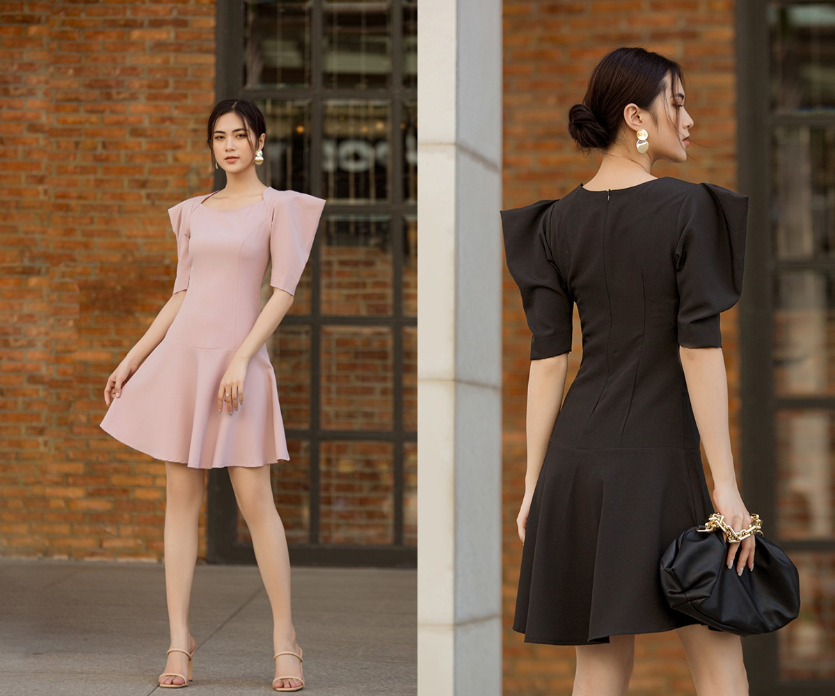 Đầm nữ thời trang Eden D422 thiết kế phần tà váy kiểu đuôi cá xòe nhẹ, thêm phần nữ tính cho người mặc. Tay áo cách điệu với phần cầu vai rộng, cho cảm giác eo thon. Đầm có hai màu hồng nhạt và đen cho chị em thoải mái lựa chọn. Sản phẩm có giá 269.000 đồng, giảm 37% so với giá gốc.