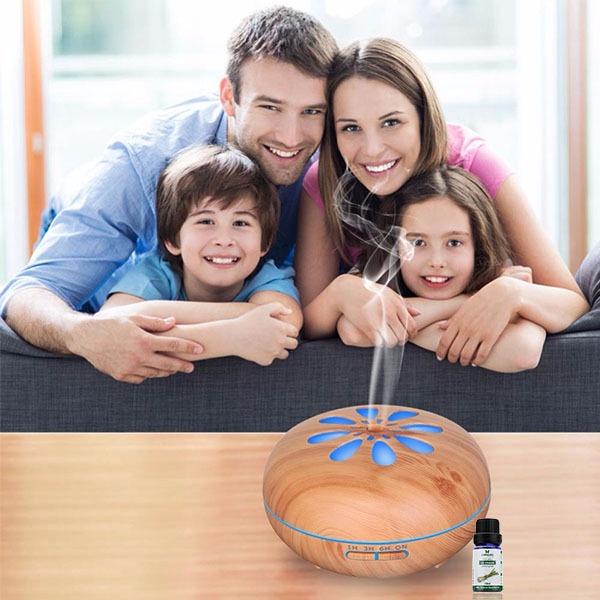 Máy khuếch tán tinh dầu hình cánh hoa mai gỗ vàng FX2031 + tinh dầu sả chanh + tinh dầu cam Lorganic (10ml x2) - Vàng 650.000đ390.000 Kiểu dáng thanh lịch với hai màu gỗ sáng/tối phù hợp với nhiều không gian khác nhau, vị trí dễ nhìn thấy như spa, văn phòng, phòng khách,... Khả năng phun sương nhanh (dường như ngay lập tức) giúp khuếch tán tinh dầu nhanh chóng. Dễ sử dụng với nút bấm phun sương các chế độ 1h, 3h, 6h, hết nước và tự tắt. Có thể điều chỉnh tốc độ phun sương mạnh và yếu tùy thích.