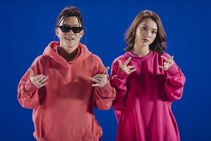 Rapper Young Uno và hot girl Quỳnh Lương.